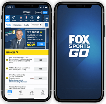 Fox Bet Sports Go mobile app